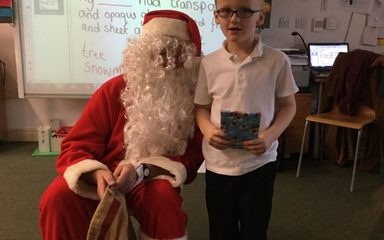 Surprise Visit from Santa!