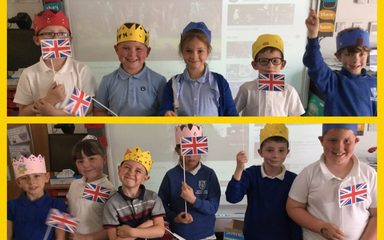 Royal Crowns and Flags