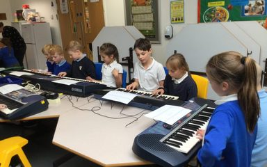Keyboards in Year 4