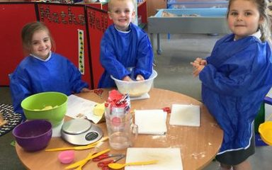 Reception's apple crumble bake off!