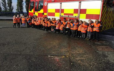 Reception's visit to Birtley Fire Station!