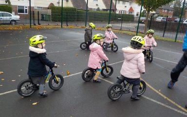 Balance Bikes in Nursery