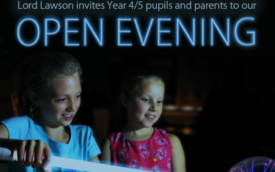 Open Evening at Lord Lawson Academy for Y4 and Y5