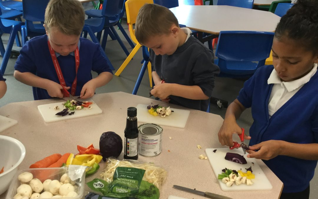 Year 1 make stir fry